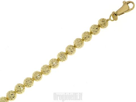 Bracciale con sfere diamantate
