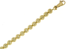 Gold Jewells: Faceted bracelet with balls 18k