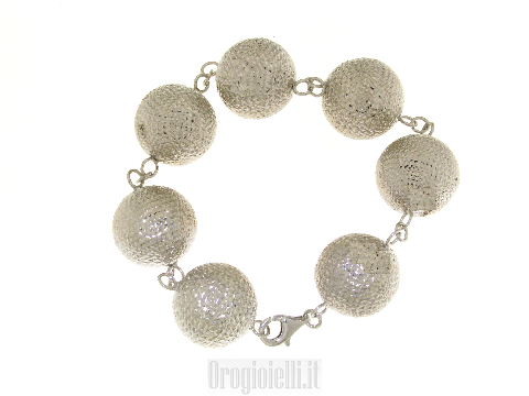 Bracciale con sfere grandi in argento