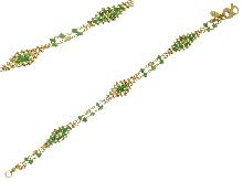 Bracciale con smeraldi in oro giallo