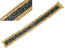 Gioielli Egiziani: Bracciale con zirconi neri ed oro rosso