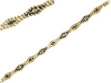 Bracciale con zirconi neri in oro 18 kt