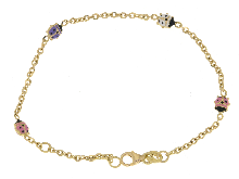 Gold Jewells: Bracelet for communion in 18 ct
