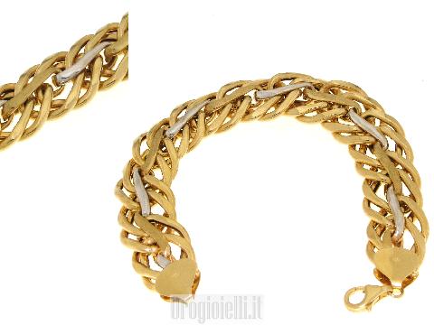 Brazalete clásico de la mujer en oro de 18 quilates