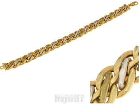 Bracciale donna oro giallo 18 kt