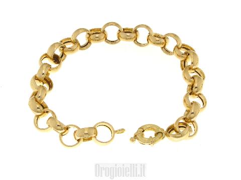 Bracciale donna per ciondoli in oro