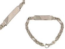 Bracciale grande con piastra in argento
