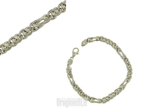 Bracciale grande in argento 925 rodiato