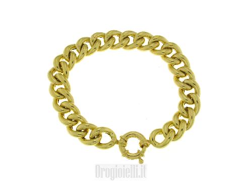 Bracciale grumetta filo tondo oro donna
