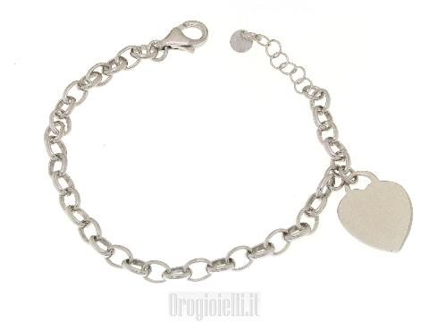 Bracciale in argento con charms finale