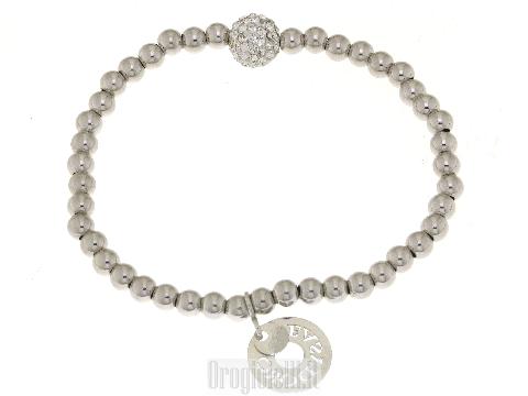 Bracciale in argento con sfera