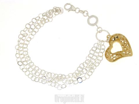 Bracciale in argento dorato 925