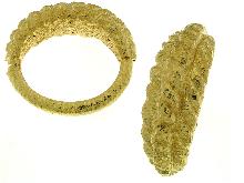 Bracciale in oro giallo con treccia elettroformata