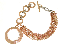 Gold Jewells: Millefili rock crystal bracelet