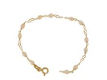 Oro-Gioielli Bambino-Bracciale neonato con perline