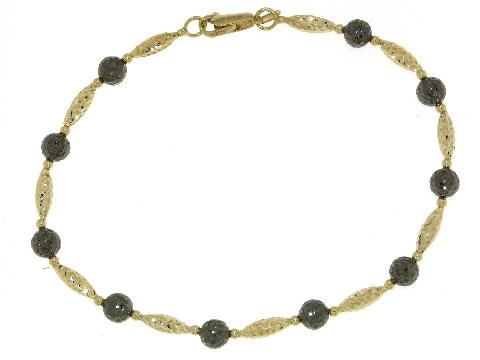 Bracciale donna oro giallo ed oro nero (brunito)
