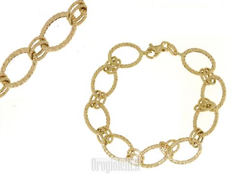 Bracciale per ciondoli in oro giallo