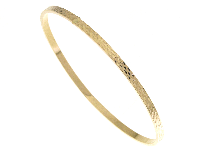 Bracciale rigido in oro giallo 18 kt
