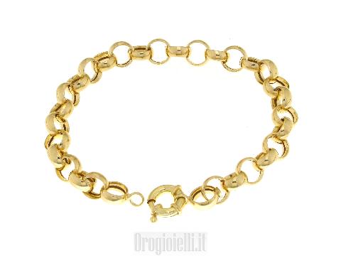 Bracciale rolo' per ciondoli oro giallo