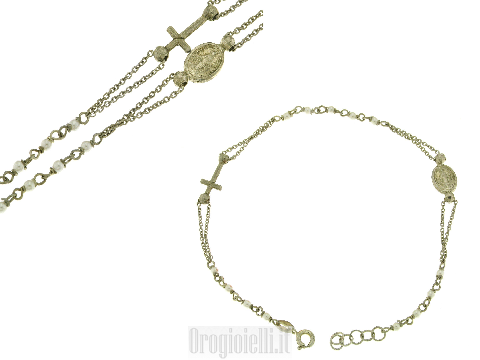 Bracciale rosario in bigiotteria