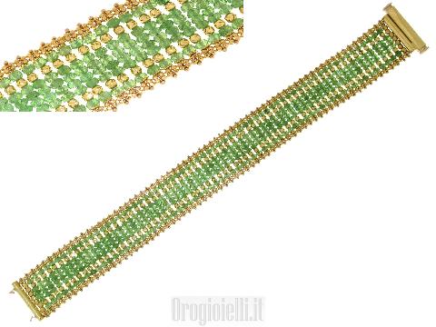 Gioielli Egiziani: Bracciale tappeto con radici di smeraldi