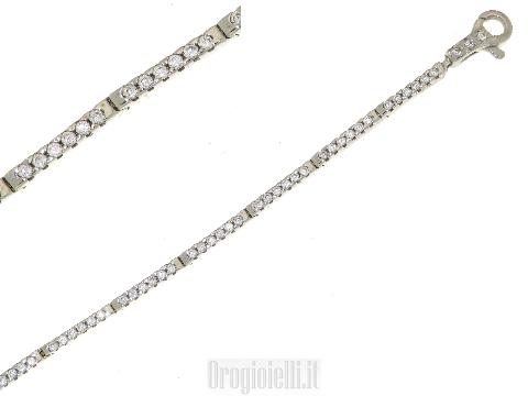 Tennis bracelet with C-Z in 18 kt