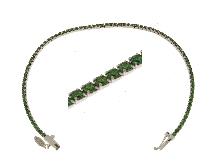 I Tennis di Orogioielli: Bracciale tennis zirconi verdi tipo smeraldi