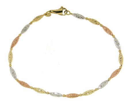 Bracciale CHIC donna in oro bianco-rosa-giallo