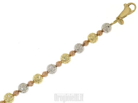 Bracciale tre colori diamantato