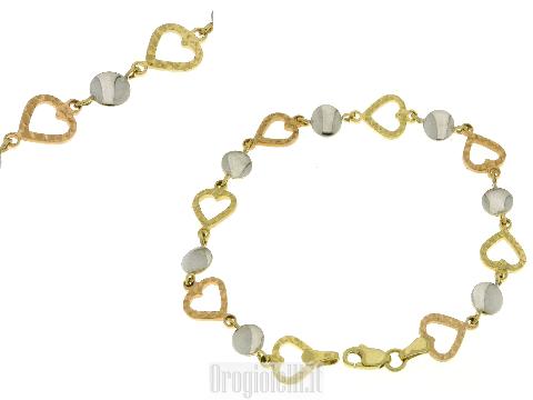 Bracciale tre colori in oro 18 carati
