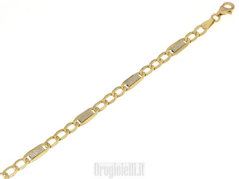 Bracciale vuoto bicolore in oro 18kt