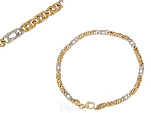 Gioielli design charme raffinato UOMO Bracciale oro