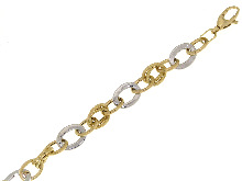 Gold Jewells: Empty two color gold bracelet