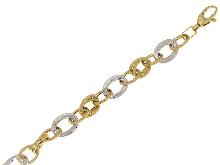 Bracciale vuoto in oro bicolore