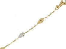Braccialetto Novello in oro bicolore