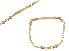 Gold Jewells: baby bracelet with gold plate