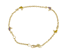 Gold Jewells: Baby bracelet with enamel