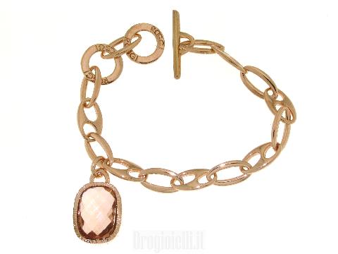 Braccialetto bronzo con pendente - charm