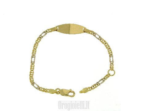Braccialetto oro da bambino bicolore