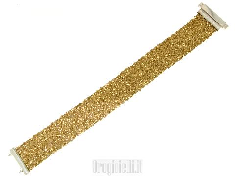 Braccialetto in argento dorato
