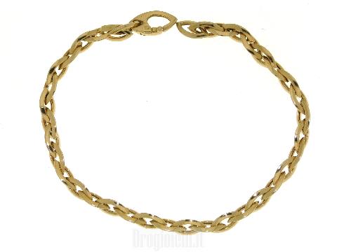 Braccialetto vuoto in oro giallo 18 kt