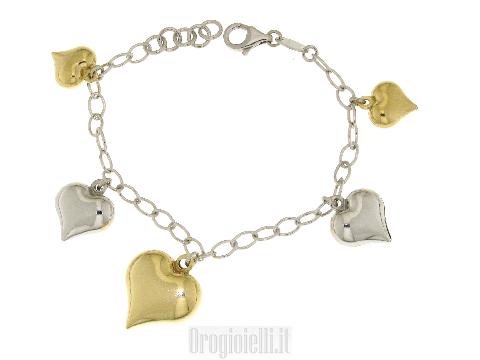 Bracciali con ciondoli in argento 925
