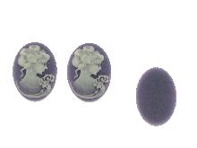 Gold Jewells: Cameos purple for ladies