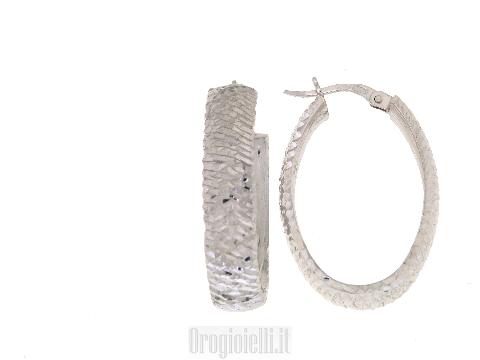 Orecchini donna Campanella ovale in oro bianco NOVELLO