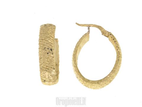 Orecchini donna Campanella ovale in oro giallo NOVELLO