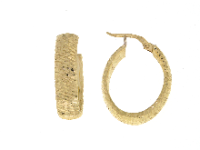 Campanella ovale in oro giallo NOVELLO