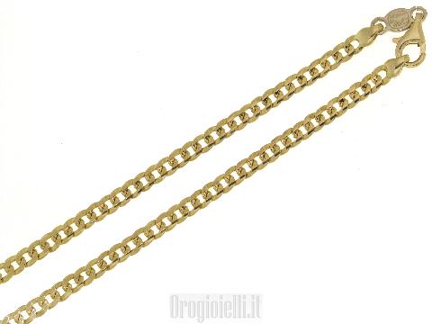 Catena grumetta classica in oro giallo