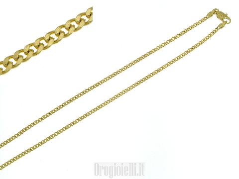 Catena in oro modello tradizionale maglia cubana 18ct