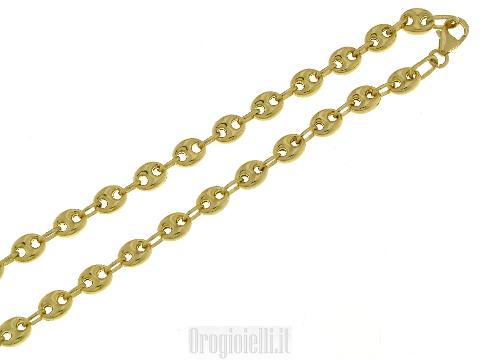 Catena oro maglia marina semi-vuota-Parure MAGLIAMARINA