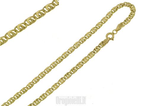 Catena occhio pernice in oro giallo 18kt